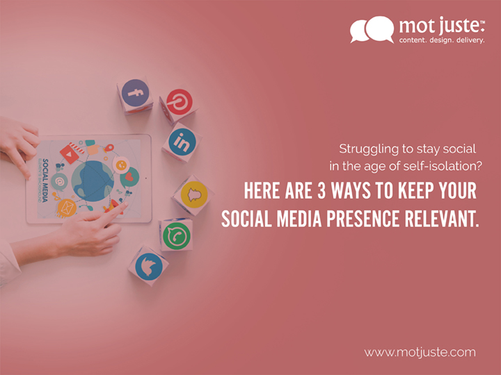3 ways to keep your social media presence relevant